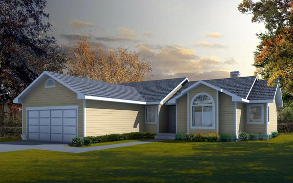 Ranch Traditional House Plan 91688 Elevation