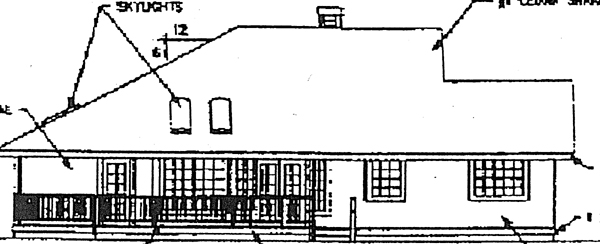 Ranch House Plan 91761 Rear Elevation