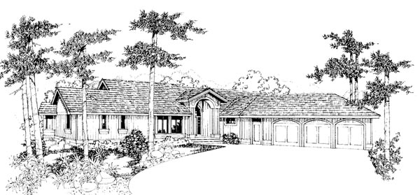 Ranch House Plan 91769 Elevation