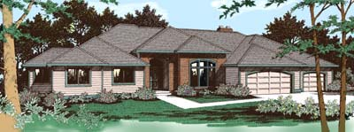 Traditional House Plan 91809 Elevation