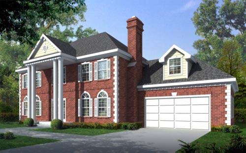 Southern House Plan 91817 Elevation