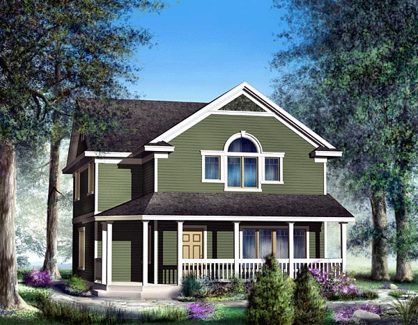 Bungalow Country Craftsman House Plan 91829 Elevation