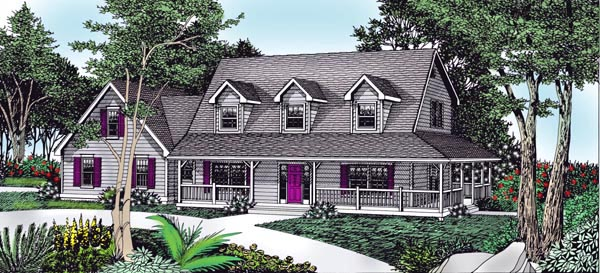 Country Farmhouse House Plan 91838 Elevation