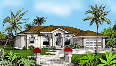 Mediterranean House Plan 91841 Elevation