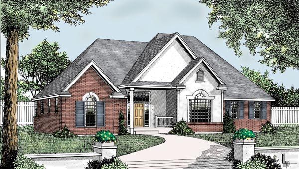 Country European Traditional House Plan 91859 Elevation