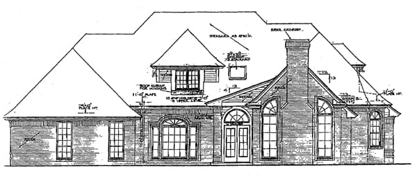 European French Country House Plan 92207 Rear Elevation
