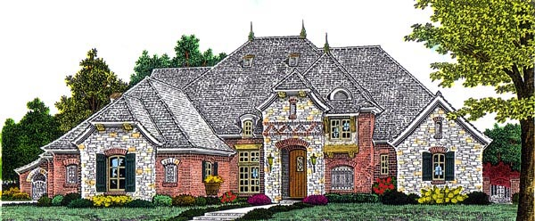 European French Country House Plan 92212 Elevation