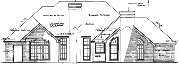 European House Plan 92214 Rear Elevation