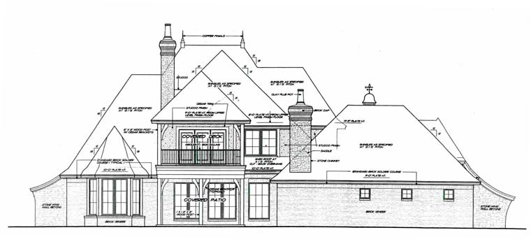 European French Country House Plan 92230 Rear Elevation