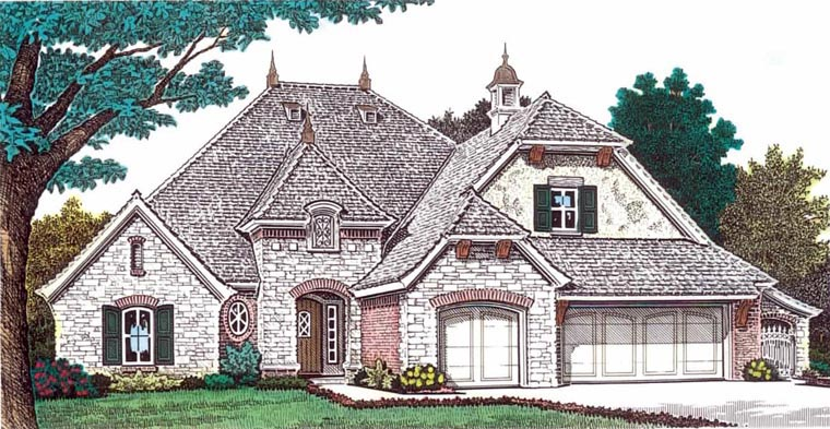 Elevation of European   House Plan 92232