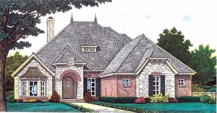 European House Plan 92234 Elevation