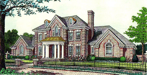 Colonial European French Country House Plan 92237 Elevation