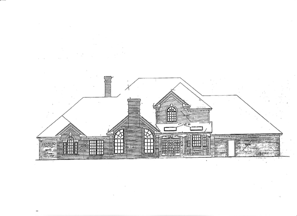 Colonial European French Country House Plan 92237 Rear Elevation