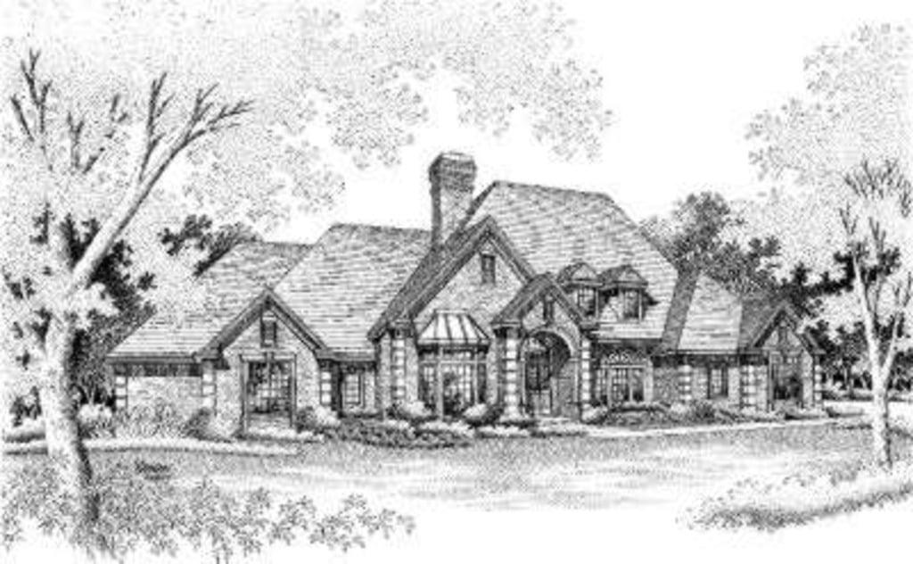 European House Plan 92265 Elevation