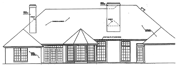 European House Plan 92273 Rear Elevation