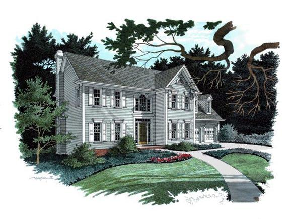 Traditional House Plan 92301 with 4 Beds, 3 Baths, 2 Car Garage Elevation