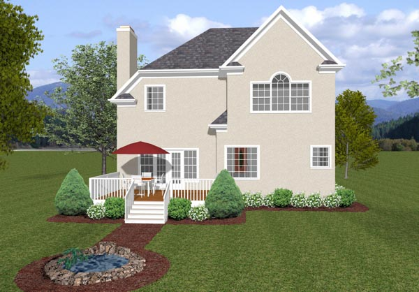 Traditional House Plan 92302 Rear Elevation