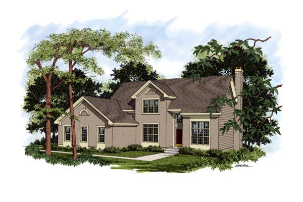 Traditional House Plan 92305 Elevation