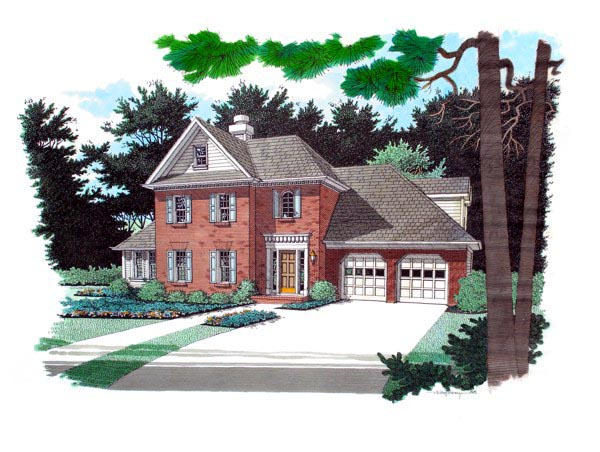 Traditional House Plan 92306 Elevation