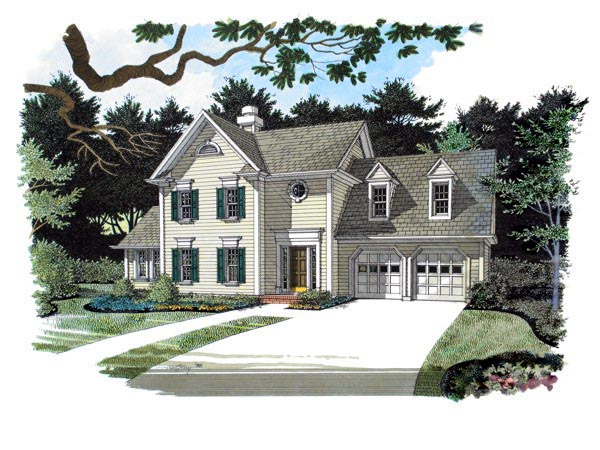 Colonial Traditional House Plan 92307 Elevation