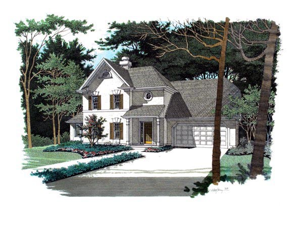 Traditional House Plan 92318 Elevation