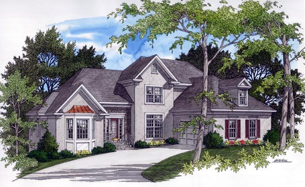European Traditional House Plan 92320 Elevation