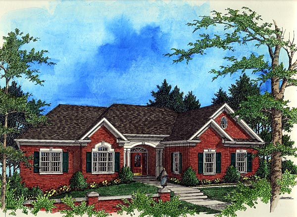 Traditional House Plan 92322 Elevation
