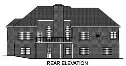 Traditional House Plan 92322 Rear Elevation