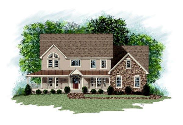 Farmhouse House Plan 92335 Elevation
