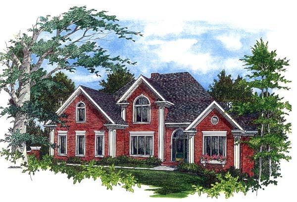 European Traditional House Plan 92339 Elevation