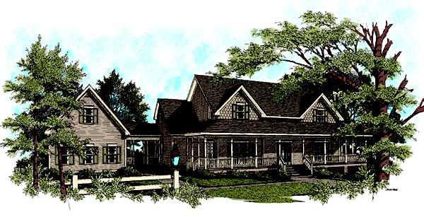 Country Traditional House Plan 92341 Elevation