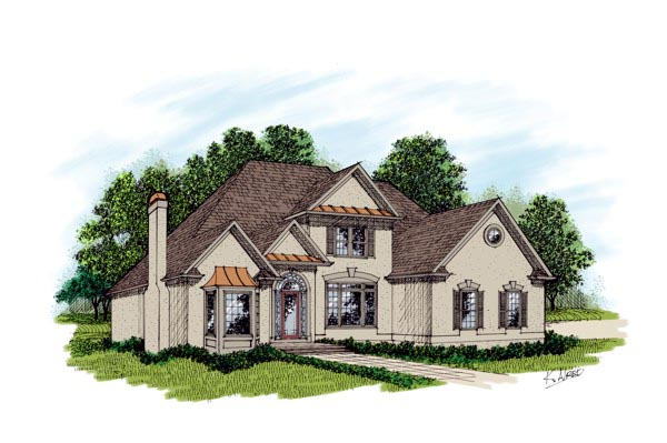 European Traditional House Plan 92343 Elevation