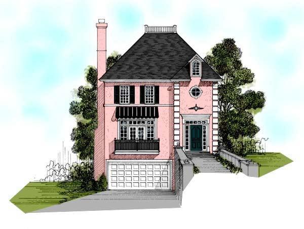European Traditional House Plan 92349 Elevation