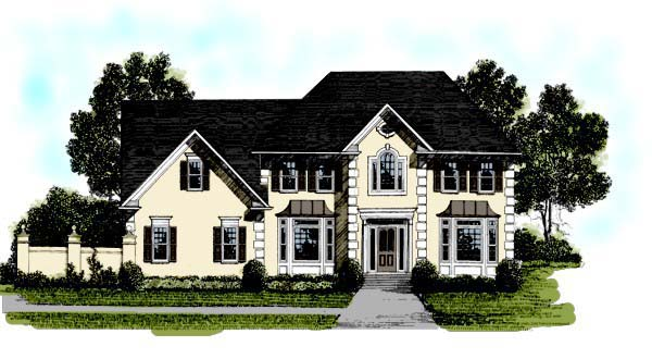 European Traditional House Plan 92350 Elevation