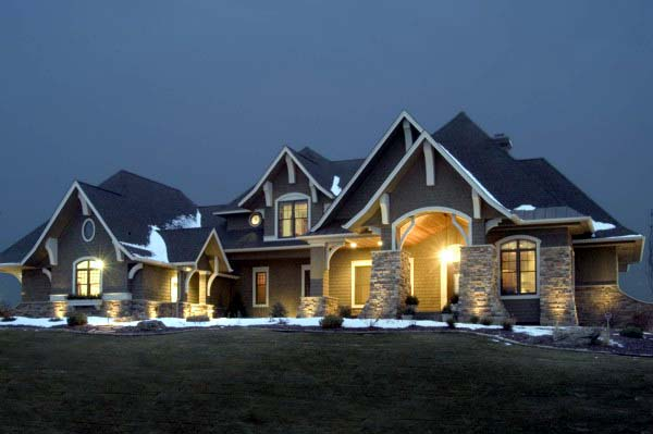 Craftsman Style House Plan 92351 With 5077 Sq Ft 5 Bed 4