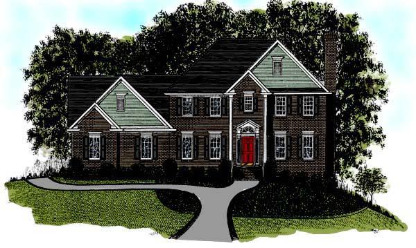 European House Plan 92357 Elevation