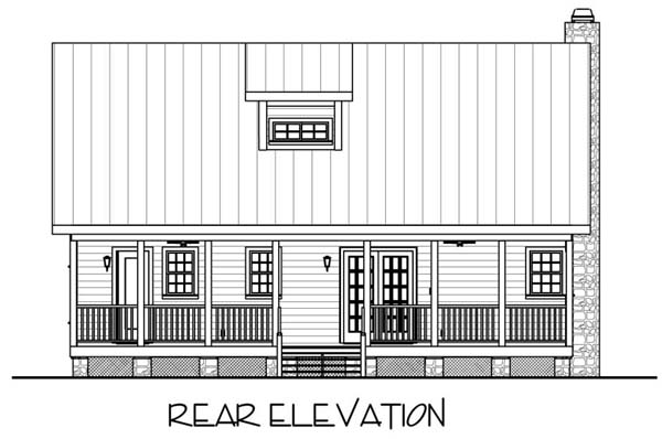 Country Traditional House Plan 92372 Rear Elevation