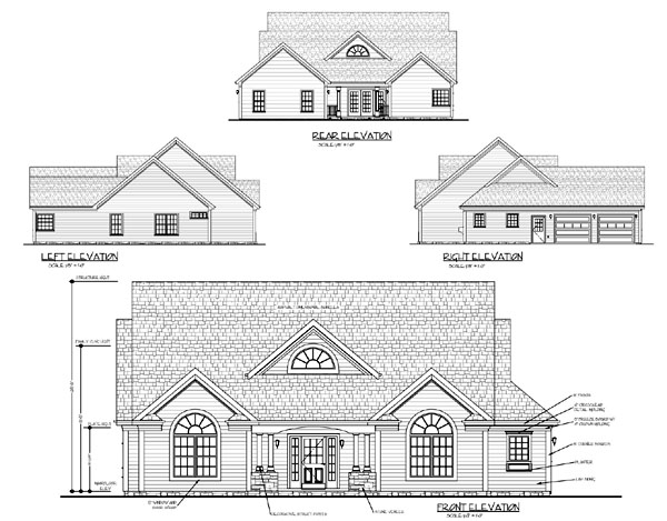 Country Traditional House Plan 92373 Rear Elevation