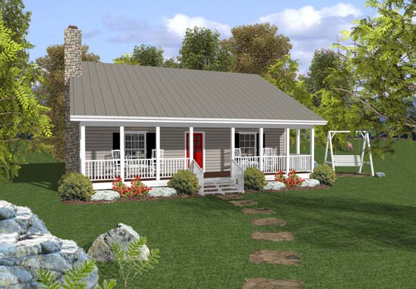 Great Cabin Country Ranch House Plan 92376 Elevation