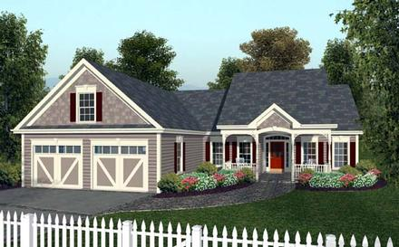 Country European Traditional Elevation of Plan 92377