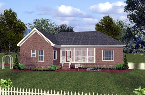 Craftsman Traditional House Plan 92381 Rear Elevation