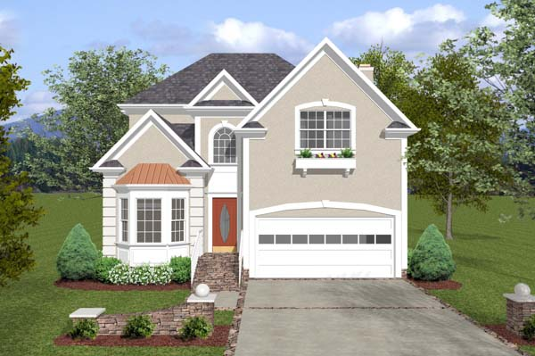 Traditional House Plan 92382 Elevation