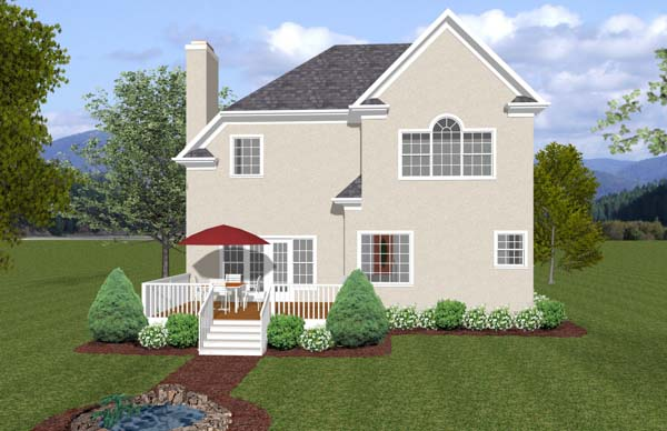 Traditional House Plan 92382 Rear Elevation