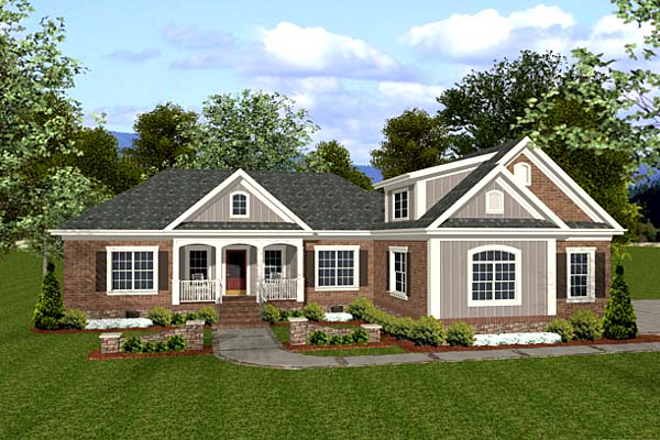Traditional House Plan 92383 with 3 Beds, 3 Baths, 3 Car Garage Elevation