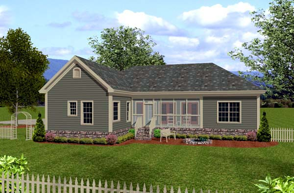 Country Craftsman House Plan 92385 Rear Elevation