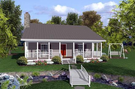 Cabin Ranch Traditional Elevation of Plan 92388