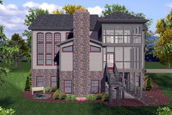 Craftsman, Traditional House Plan 92389 with 4 Beds, 4 Baths, 3 Car Garage Picture 2
