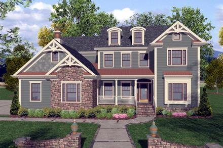 Craftsman Traditional Elevation of Plan 92390