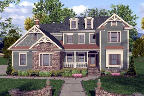 Craftsman Traditional House Plan 92390 Elevation