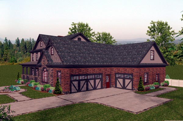Craftsman House Plan 92391 with 4 Beds, 5 Baths, 3 Car Garage Picture 1